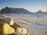 View of Table Mountain From Milnerton Beach  Cape Town  Western Cape  South Africa  Africa