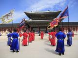 Changing of the Guards  Gyeongbokgung Palace (Palace of Shining Happiness)  Seoul  South Korea