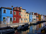 Colorful Buildings at Burano Island  Venice Lagoon  Venice  Veneto  Italy