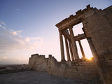 The Capitol at Sunset in the Roman Ruins  Dougga Archaeological Site  Tunisia