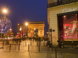 Cartier Store  Champs Elysees  and Arc De Triomphe  Paris  France  Europe