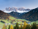 Mountains of the Geisler Gruppe/Geislerspitzen  Dolomites  Trentino-Alto Adige  Italy  Europe