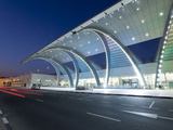 Stylish Modern Architecture of Terminal 3 Opened in 2010  Dubai International Airport