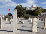 Byrsa Hill  St Louis Cathedral and Scattered Punic Ruins  Carthage  Tunisia