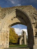 Ruins of Glastonbury Abbey  Glastonbury  Somerset  England  United Kingdom  Europe