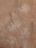 Hand Pictographs  Honanki Heritage Site  Coconino National Forest  Arizona  USA