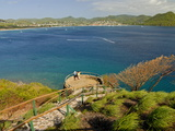 View From Pigeon Point Down to Rodney Bay  St Lucia  Windward Islands  West Indies  Caribbean