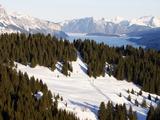 Saint Gervais Ski Slopes  Saint Gervais  Haute Savoie  French Alps  France  Europe