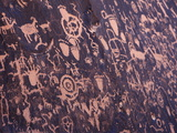 Ancient American Indian Petroglyphs at Newspaper Rock  Indian Creek  Canyonlands National Park
