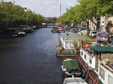 Houseboats  Amsterdam  Netherlands  Europe