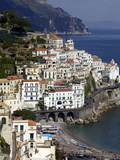 View of Amalfi From the Coast  Amalfi Coast  Campania  Italy  Europe