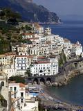 View of Amalfi From the Coast  Amalfi Coast  Campania  Italy  Europe