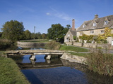River Eye  Lower Slaughter Village  the Cotswolds  Gloucestershire  England  United Kingdom  Europe