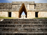 Governor's Palace in the Mayan Ruins of Uxmal  UNESCO World Heritage Site  Yucatan  Mexico