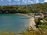 Coastal Village  Anse La Raye  St Lucia  Windward Islands  West Indies  Caribbean  Central America