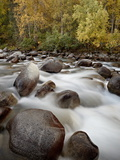 Cascades on the Little Susitna River With Fall Colors  Hatcher Pass  Alaska  USA