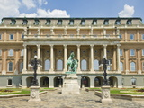 Rear Entrance to the Hungarian National Gallery With Equestrian Statue  Budapest  Hungary  Europe