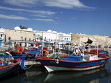 Fishing Boats  Old Port Canal With Kasbah Wall in Background  Bizerte  Tunisia