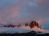 Sunset at Port Lockroy  Antarctic Peninsula  Antarctica  Polar Regions