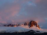 Sunset at Port Lockroy  Antarctic Peninsula  Antarctica  Polar Regions