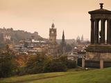 Edinburgh Cityscape From Calton Hill  Edinburgh  Lothian  Scotland  Uk
