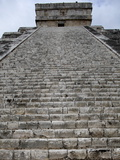 Kukulkan Pyramid  Mesoamerican Step Pyramid Nicknamed El Castillo  Chichen Itza  Yucatan  Mexico