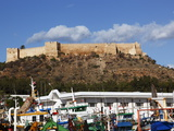 The 6Th Century Byzantine Fortress Overlooking Fishing Boats in the Harbour  Kelibia  Tunisia