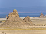 Lac Abbe (Lake Abhe Bad) With Its Chimneys  Republic of Djibouti  Africa