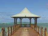 Boat Pier in Mahebourg  Mauritius  Indian Ocean  Africa