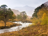 Autumn View Along Torridon River and Glen Torridon  Wester Ross  Highlands  Scotland  Uk