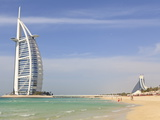 Burj Al Arab and Jumeirah Beach Hotels  Jumeirah Beach  Dubai  United Arab Emirates  Middle East