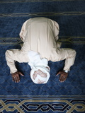 Muslim Man Praying  Dubai  United Arab Emirates  Middle East