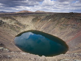 Kerid Explosion Crater With Lake of Green Water  Near Reykjavik  Iceland  Polar Regions