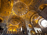 Gold Mosaics on the Dome Vaults of St Mark's Basilica in Venice  Veneto  Italy  Europe