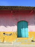 Colorful Colonial Architecture  Granada  Nicaragua  Central America