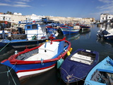 Fishing Boats in Old Port Canal  Bizerte  Tunisia  North Africa  Africa