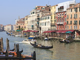 Gondolas on the Grand Canal  Venice  UNESCO World Heritage Site  Veneto  Italy  Europe