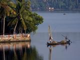 Sand Mining  Ashtamudi Lake  Kollam  Kerala  India  Asia