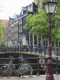 Bicycle  Brouwersgracht  Amsterdam  Netherlands  Europe