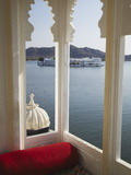 View of Lake Palace Hotel From Jagat Niiwas Palace Hotel  Udaipur  Rajasthan  India  Asia