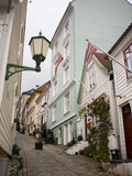 Strangebakken Street  Stransidden District  Bergen  Hordaland  Norway  Scandinavia  Europe