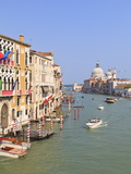 The Grand Canal and the Domed Santa Maria Della Salute  Venice  Veneto  Italy