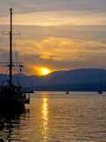 Sunset  Nafplio  Peloponnese  Greece  Europe