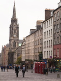 Royal Mile  the Old Town  Edinburgh  Scotland  Uk