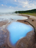 Geothermal Pools Close to Strokkur Geyser  Haukadalur  Iceland  Polar Regions