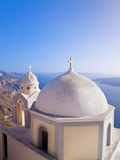 Greek Orthodox Church in Fira  Santorini (Thira)  Cyclades Islands  Aegean Sea  Greece