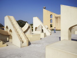 Astronomical Instruments at Jantar Mantar  UNESCO World Heritage Site  Jaipur  Rajasthan  India