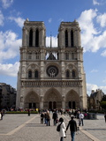 Western Facade  Notre Dame  UNESCO World Heritage Site  Paris  France  Europe