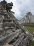 Venus Platform With Kukulkan Pyramid in the Background  Chichen Itza  Yucatan  Mexico
