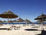 Beach Scene in the Tourist Zone of Sousse  Gulf of Hammamet  Tunisia  North Africa  Africa